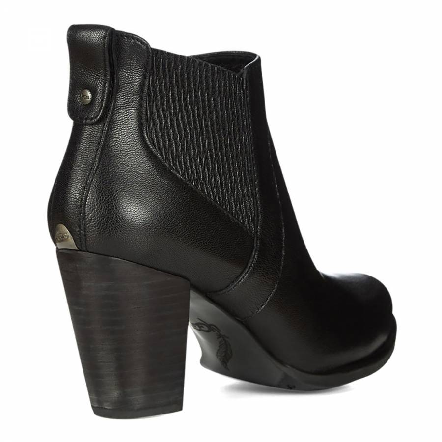 b5009062c40 UGG Black Leather Cobie II Ankle Boots