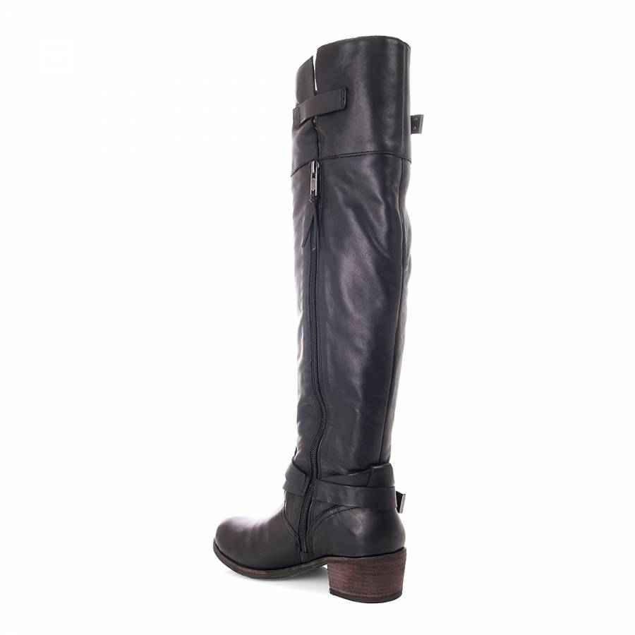 019ab086cc6 UGG Black Leather Bess Riding Boots