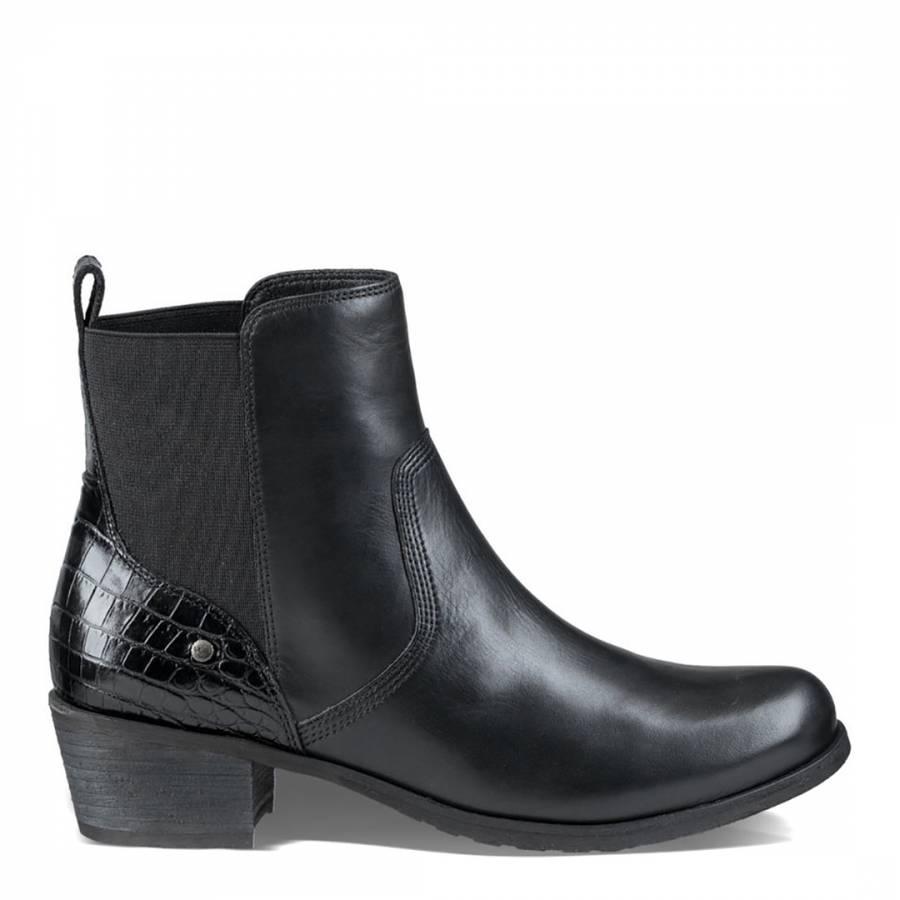 b25ace7d97f UGG Black Leather Keller Croco Chelsea Boots