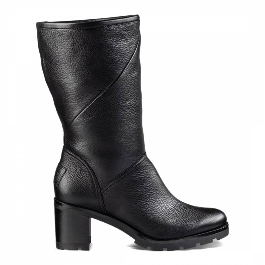 e64040b94409 Black Leather Jessia Boots - BrandAlley