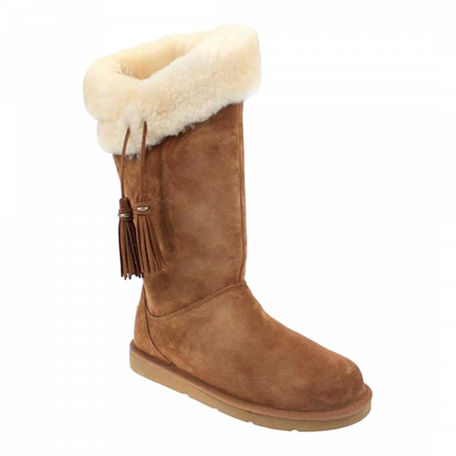 UGG Chestnut Suede Plumdale Boots