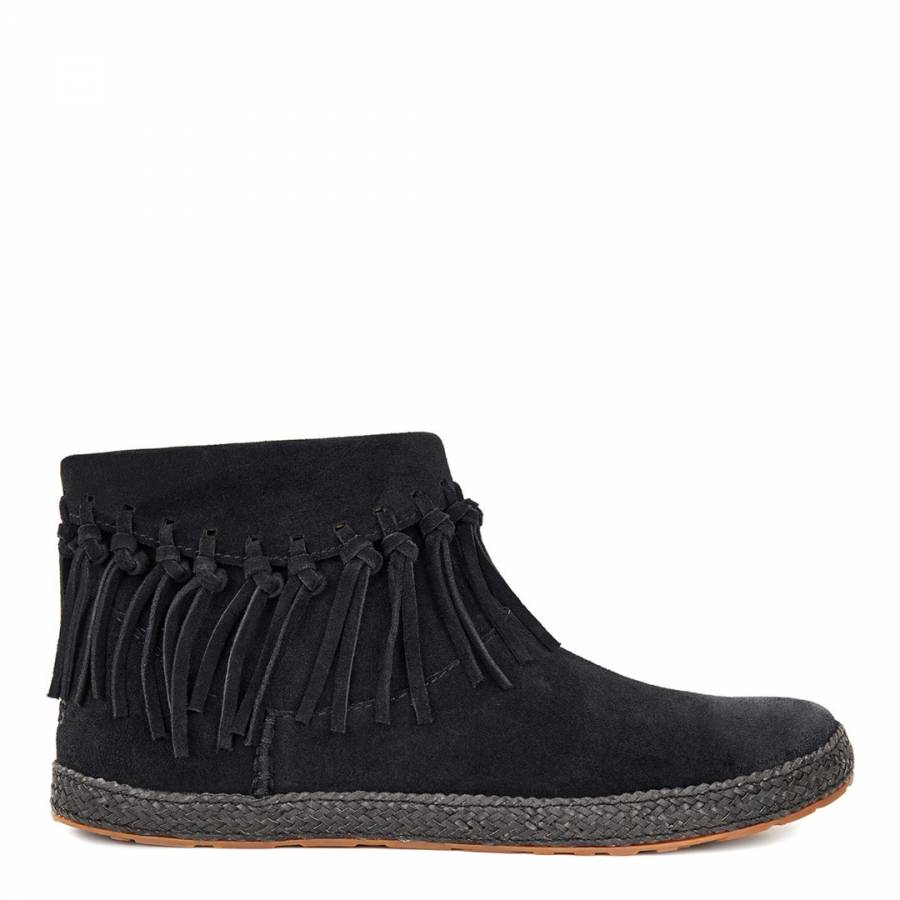 bdb7340a485 UGG Womens Black Suede Shenendoah Ankle Boots