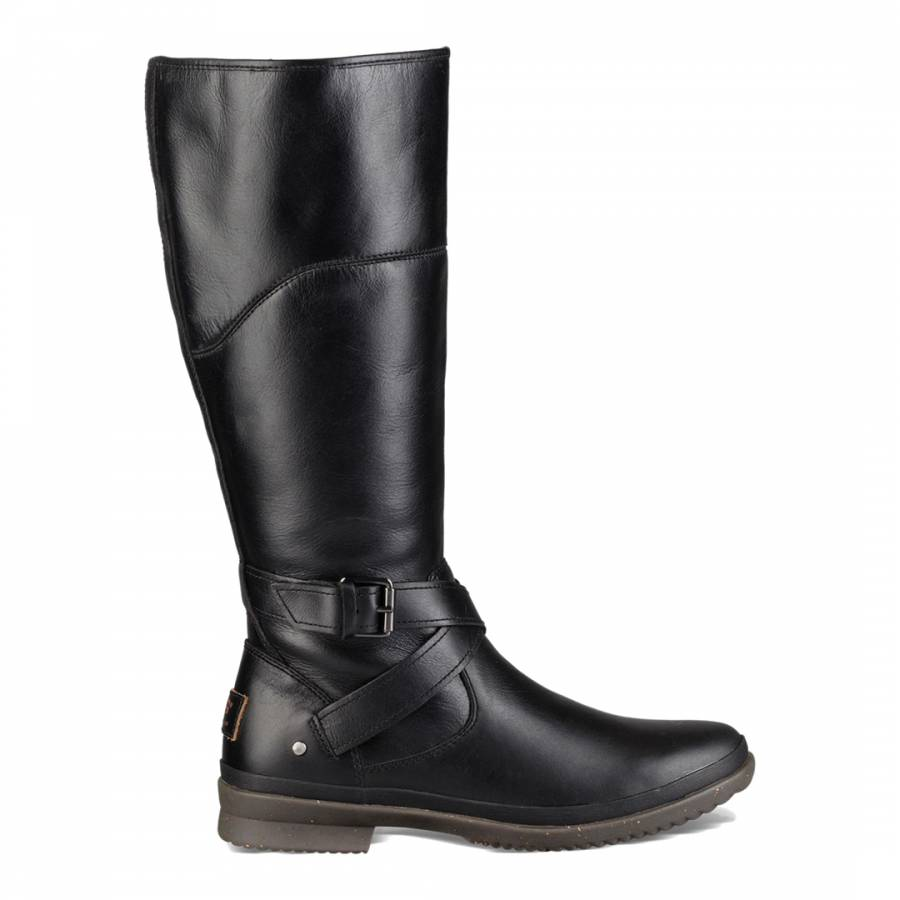 ad924df9fd3 UGG Black Leather Evanna Boots