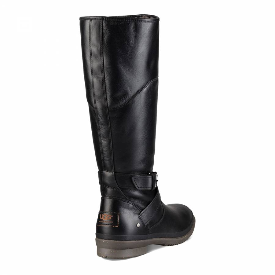ead56b0d5b8 UGG Black Leather Evanna Boots