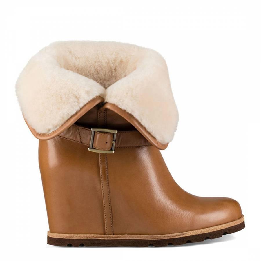 a829e84adee Chestnut Leather Ellecia Wedges