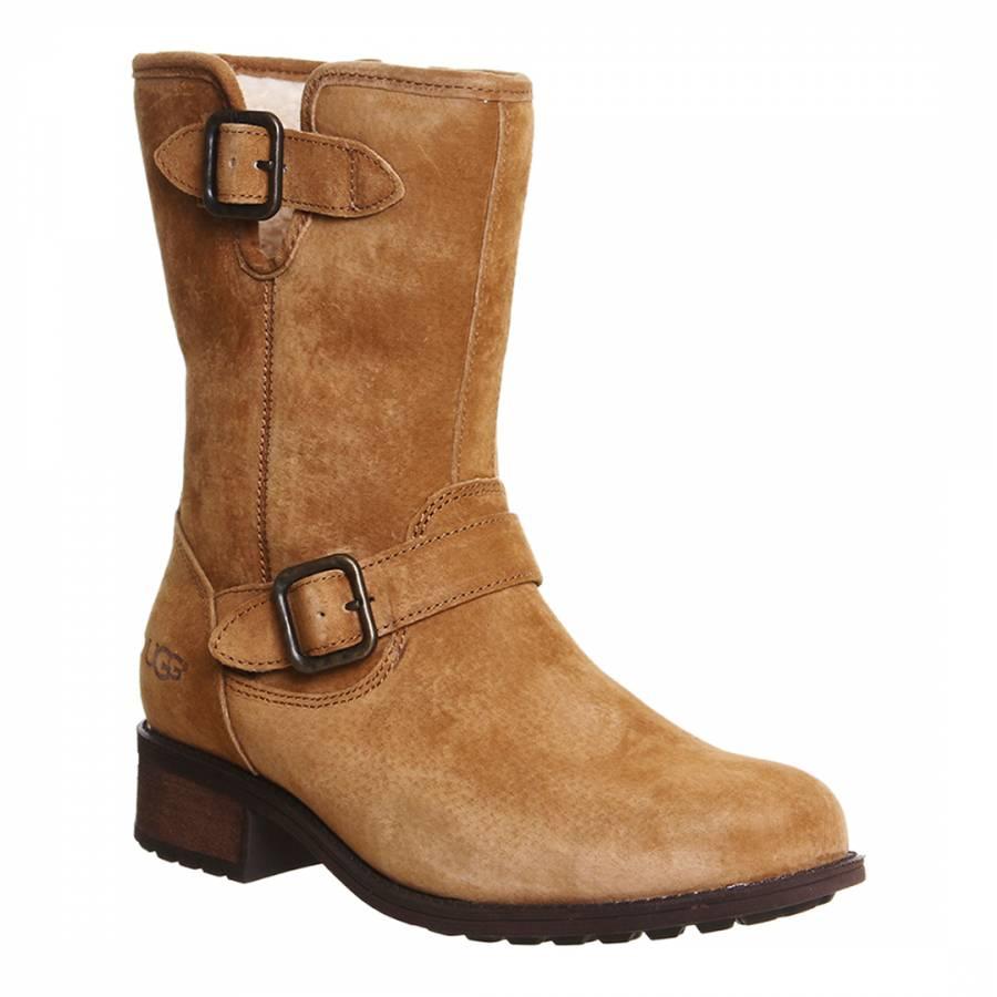 UGG Brown Chestnut Suede Chaney Boots