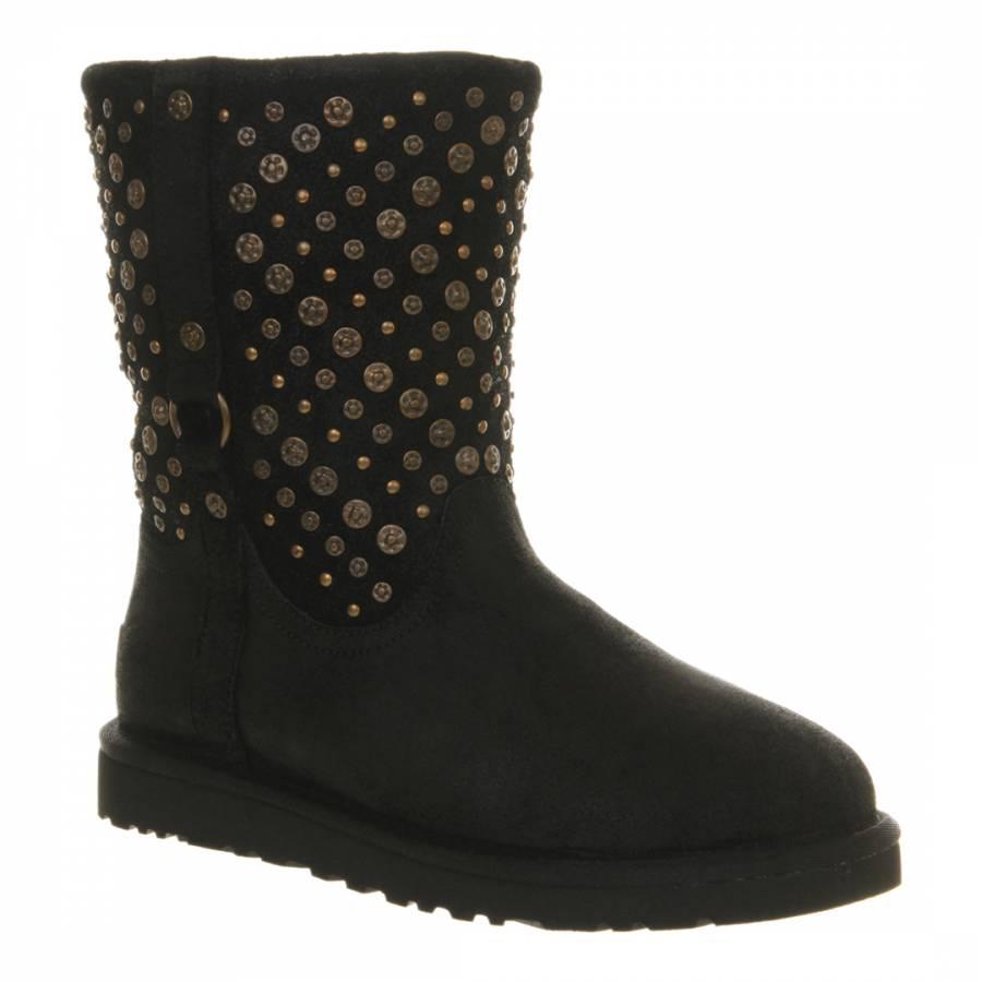 11c56f720b4 UGG Black Suede Elliot Boots