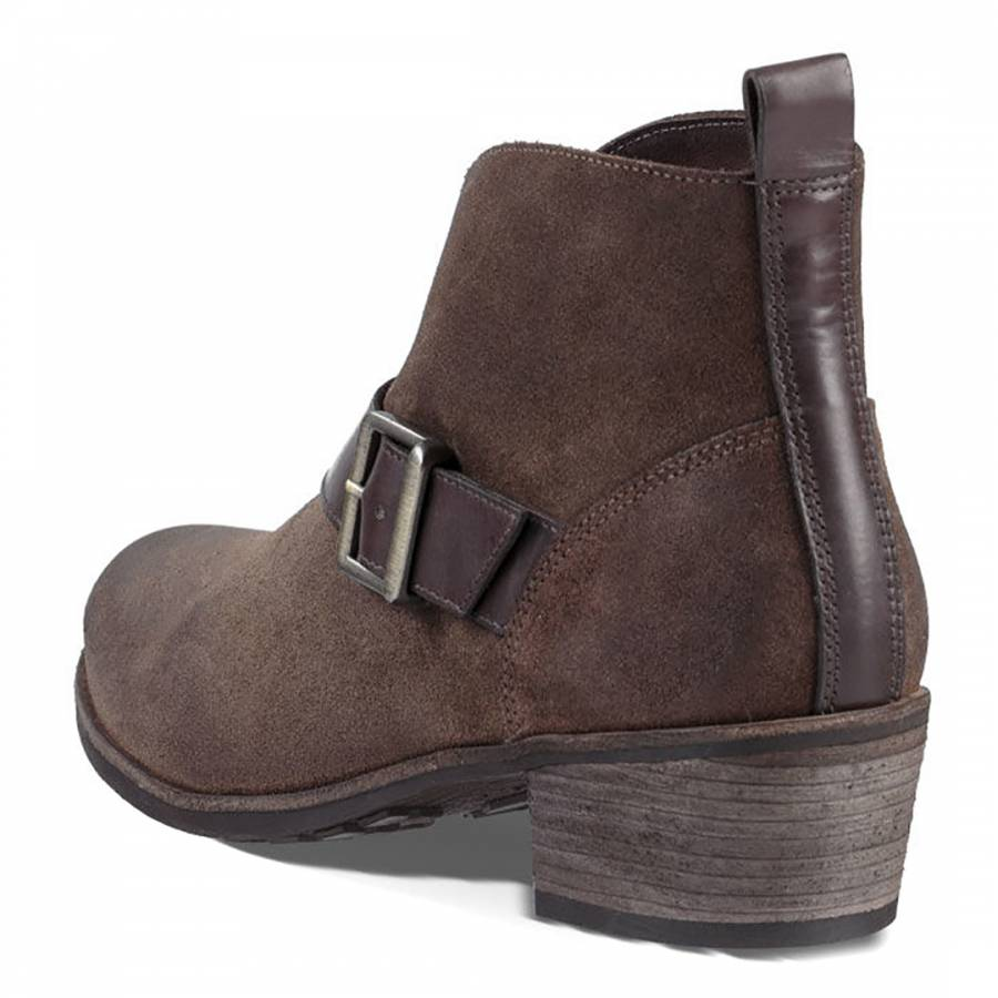 da5224dedc7 UGG Brown Suede Wright Belted Ankle Boots