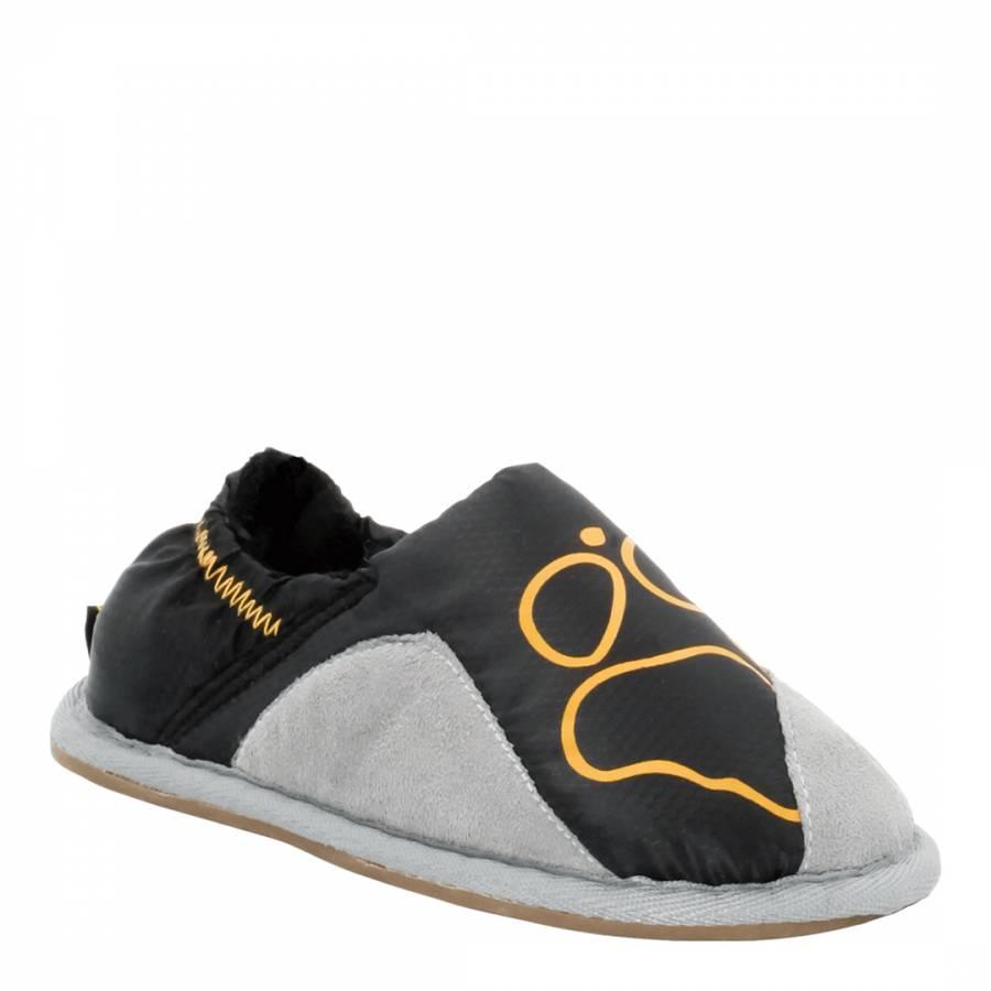 discount sale best wholesaler preview of Jack Wolfskin Boy's Black Kids Big Paw Slippers