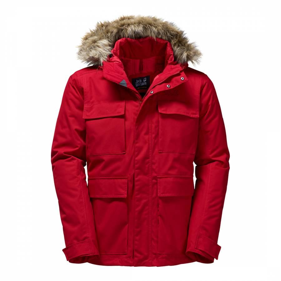 0296f04d6 Men's Indian Red Point Barrow Winter Hardshell Parka Jacket - BrandAlley