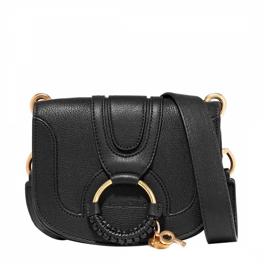 a7e11dcd0c67 Black Leather Mini Hana Crossbody Bag - BrandAlley