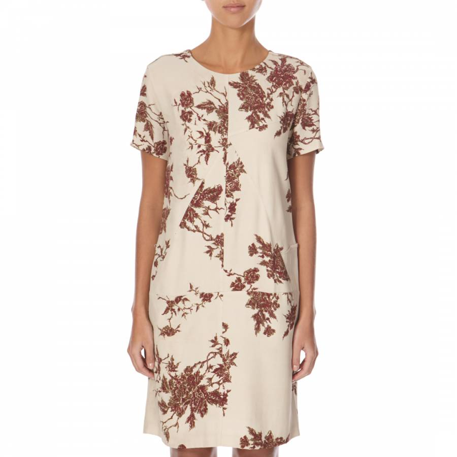 Image of Cream/Red Louella Dress