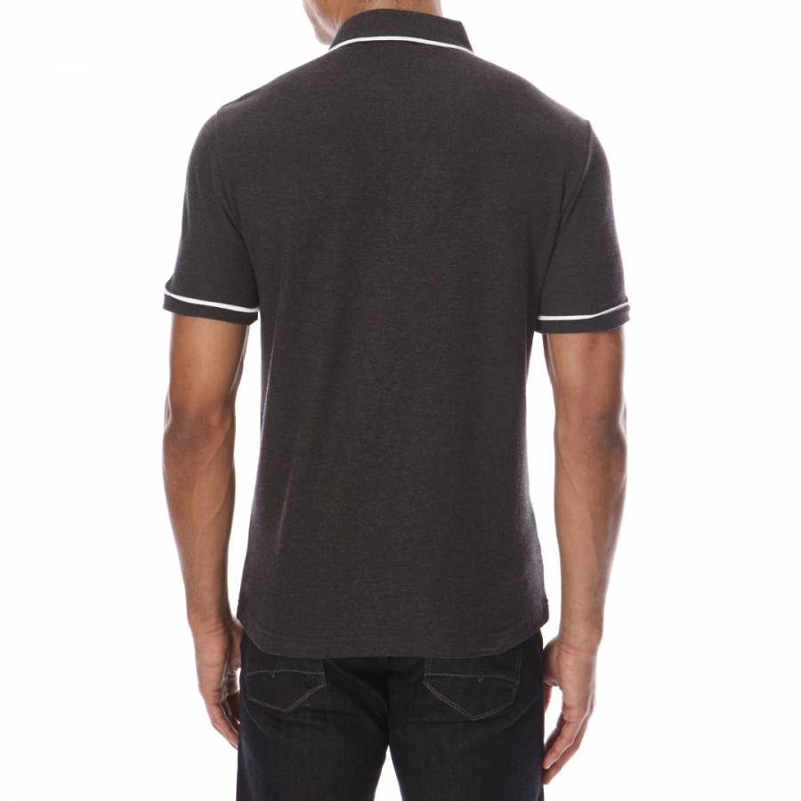Black cotton earl polo shirt brandalley for Black cotton polo shirt