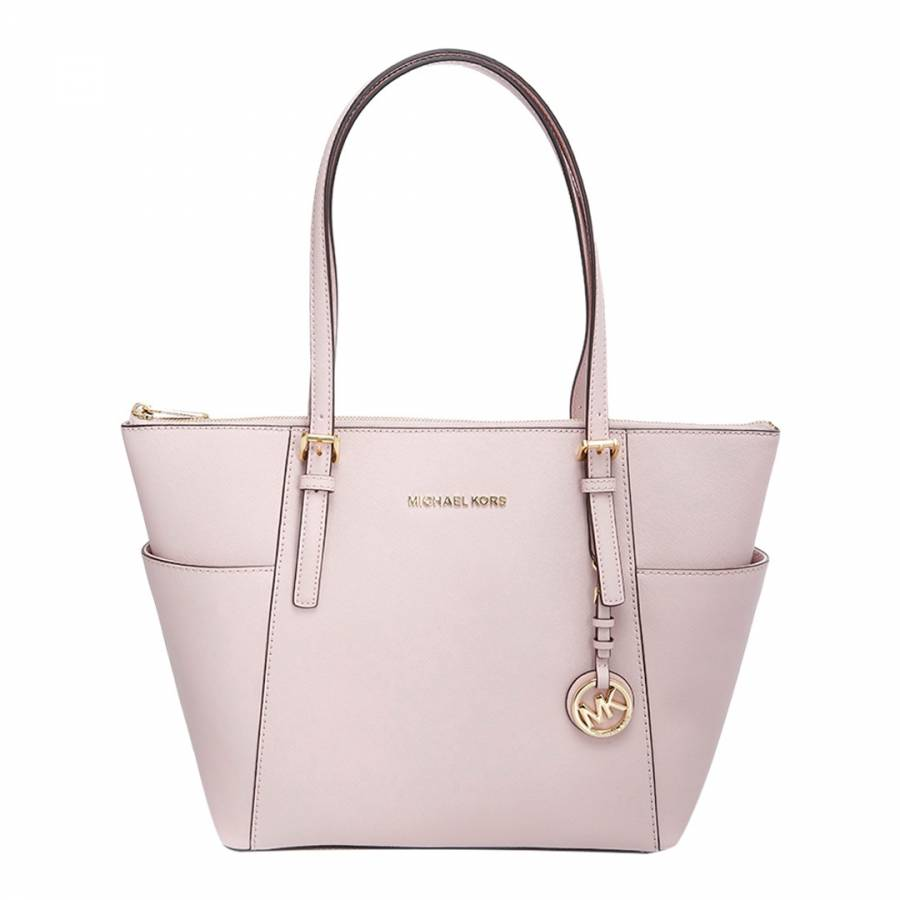 0a3eb9ae892d Soft Pink Jet Set Leather Tote Bag - BrandAlley