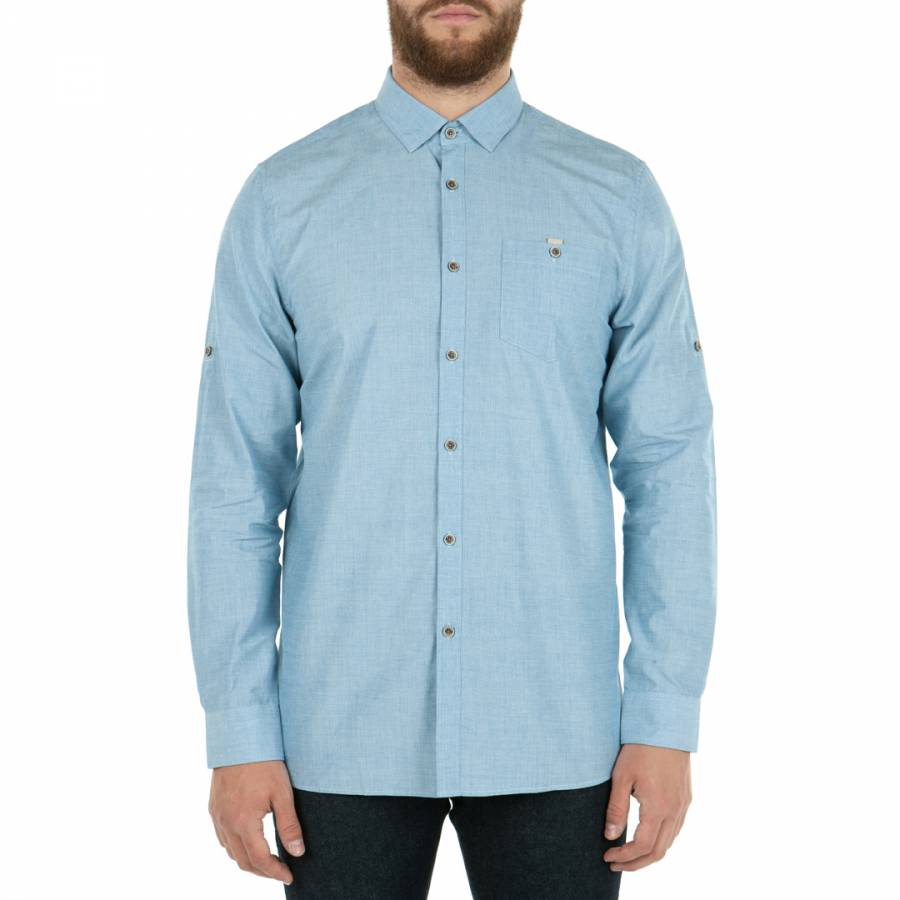 665f51880c2d Blue GoMyWay Textured Cotton Shirt - BrandAlley