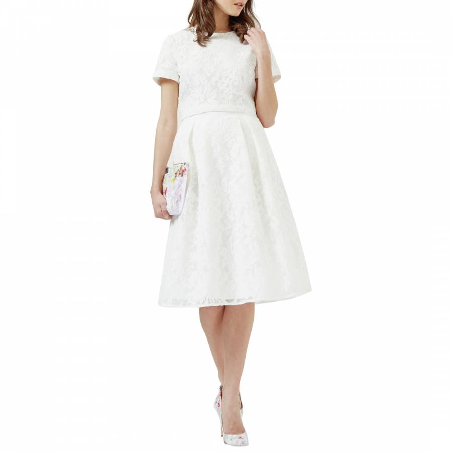 871c0f0bc4 Ted Baker White Hazil Lace Mesh Full Skirt. prev
