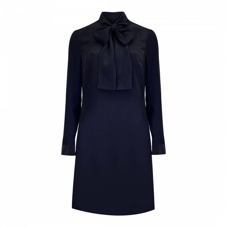 b554fde1dd8878 Dark Blue Yanka Silk Tunic Dress - BrandAlley