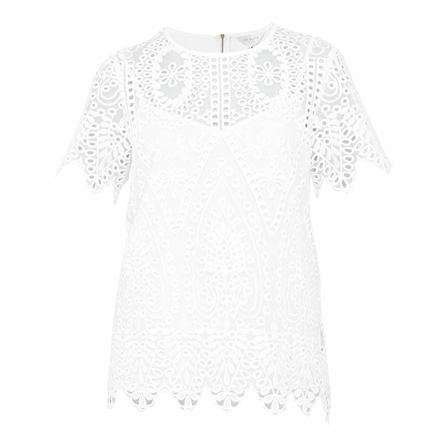 0abcc8c51 White Darsee Embroidered Lace Top - BrandAlley
