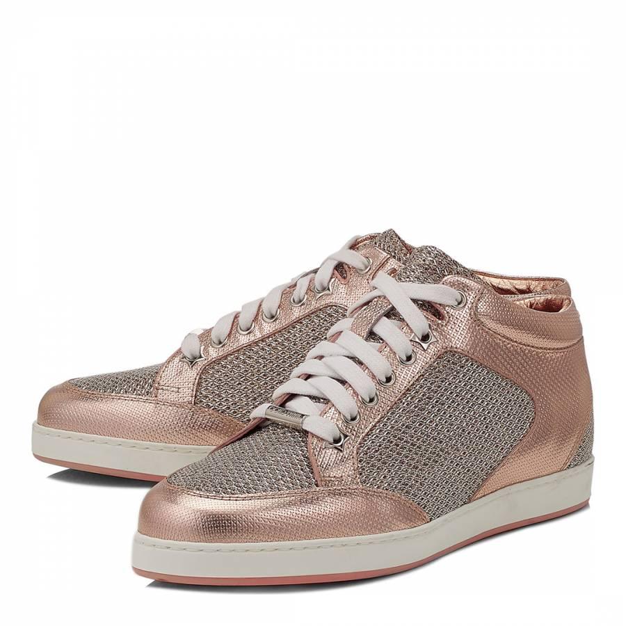 a2857c7ca424 Tea Rose Glitter Miami Sneakers - BrandAlley
