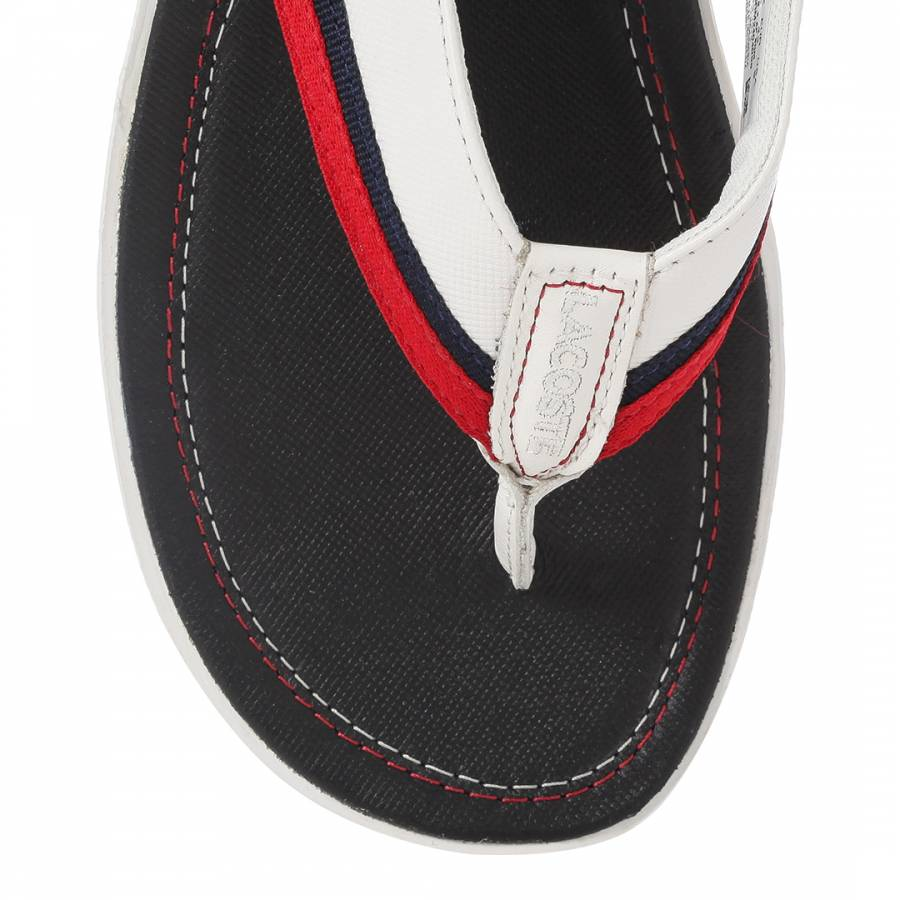 6abab64a1 Men s Navy Off White Leather Carros Flip Flop - BrandAlley