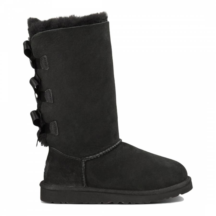 a3584118f58 Black Nubuck Bailey Bow Tall Boots