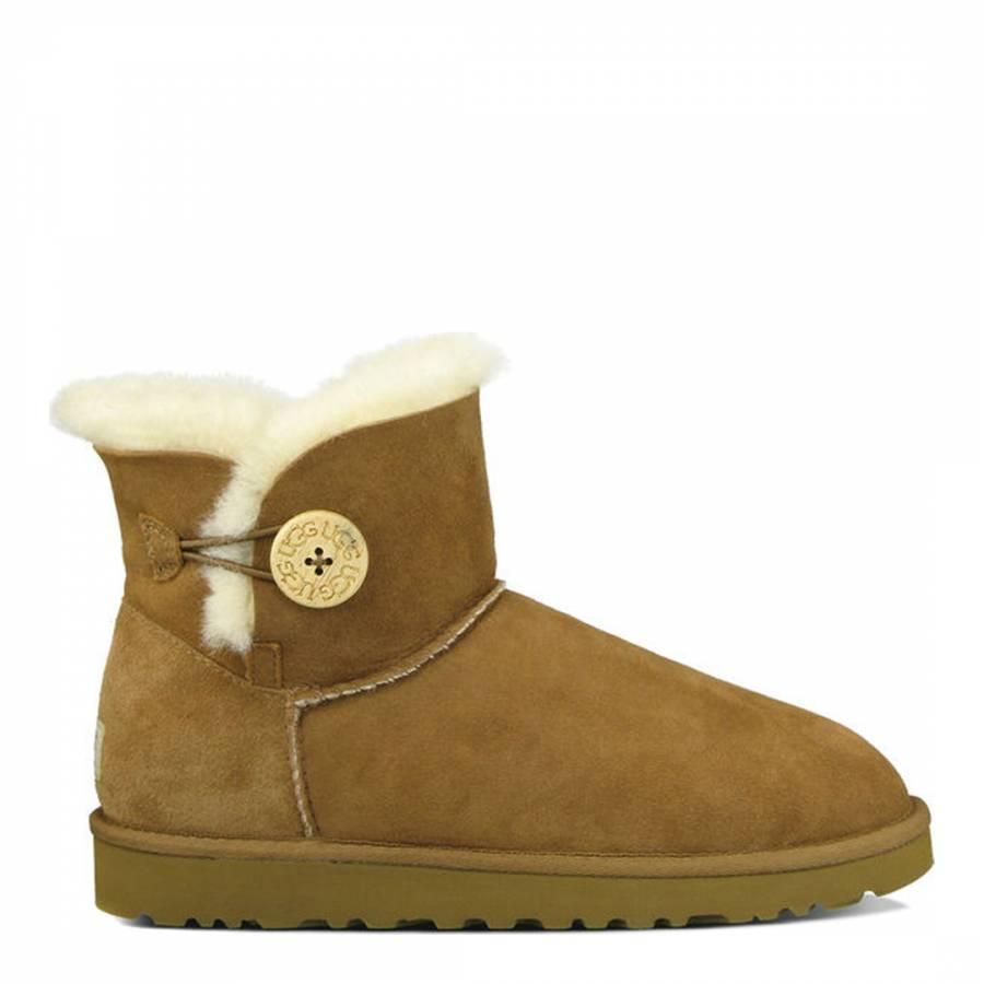 chestnut bailey button mini boots brandalley rh brandalley co uk ugg boots mini bailey button chestnut
