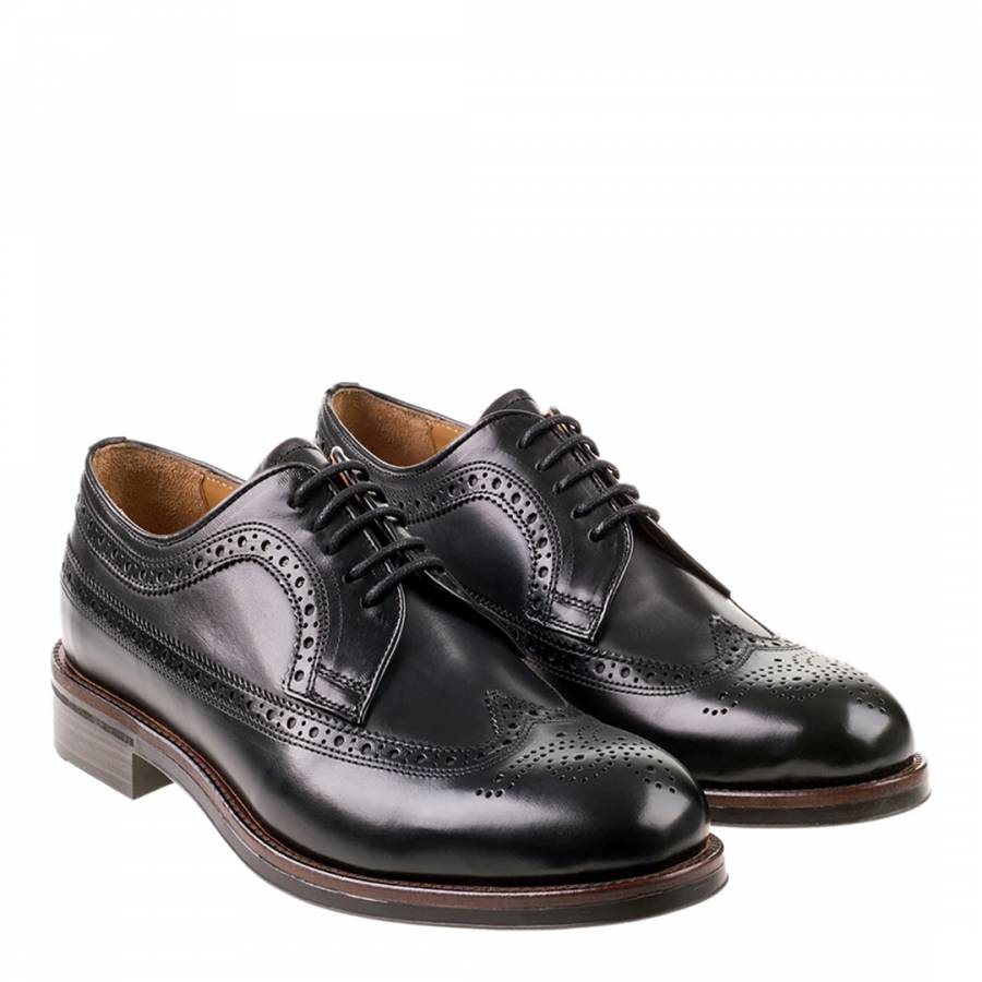 3587498ade53 Black Leather Bounty Brogues - BrandAlley