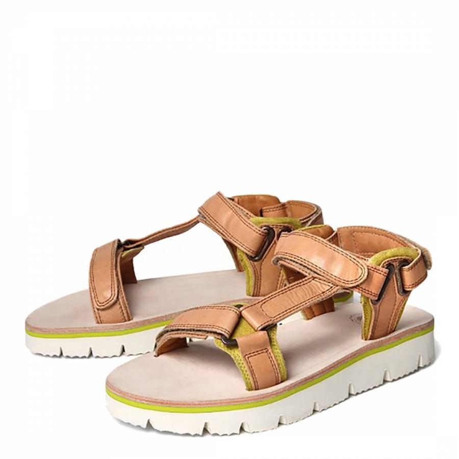 0fe45bdaf23 Hudson Tan Leather Calypso Sandals