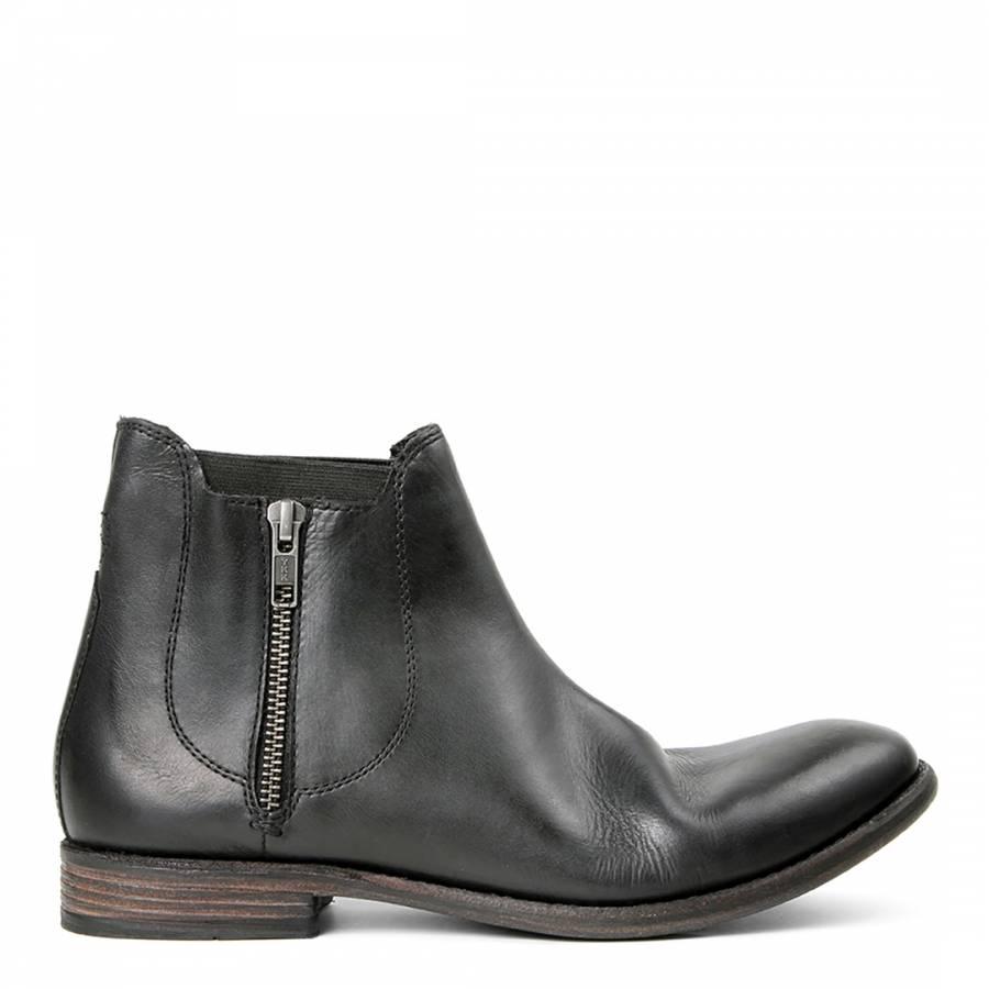 1c62e0b8f1de Black Leather Algoma Ankle Boots - BrandAlley