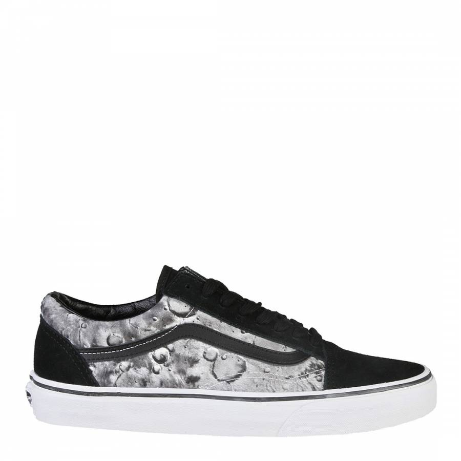 7444452af5275a Unisex Black And Moon Print Suede Old Skool Low Top Lace Up - BrandAlley