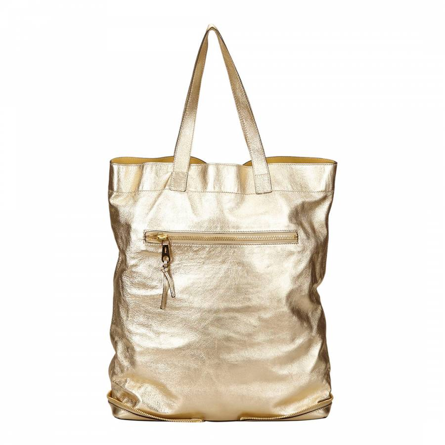 460e72f24c Chloe Metallic Gold Leather Tote Bag - BrandAlley