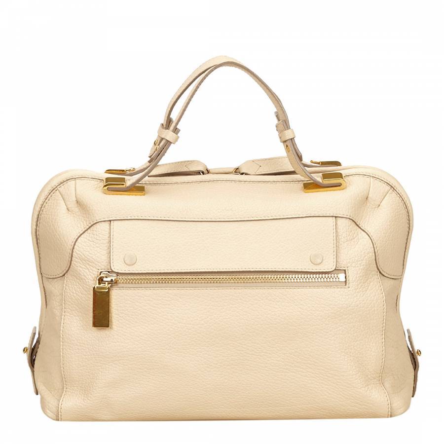 a50023a00ac6 Chloe White Leather Brooke Handbag - BrandAlley
