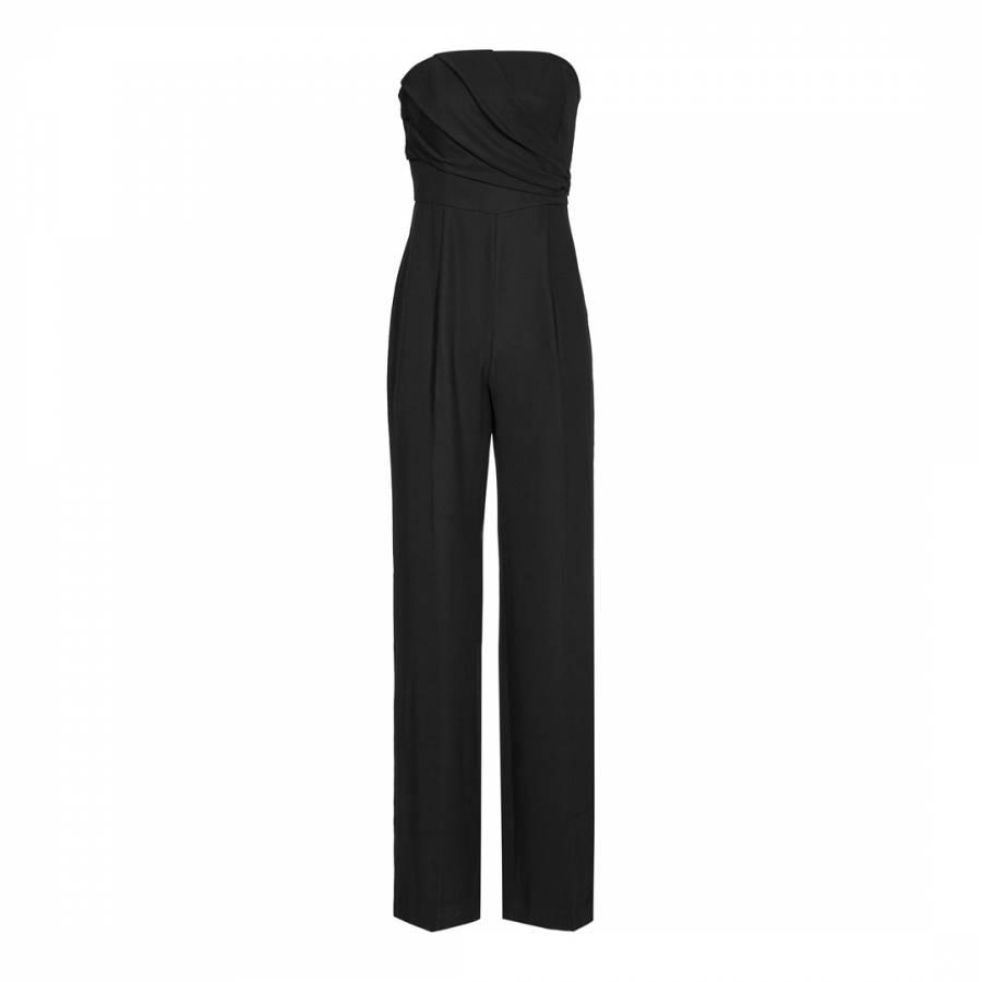 134ef01cdb Black Strapless Wide Leg Kristina Jumpsuit - BrandAlley