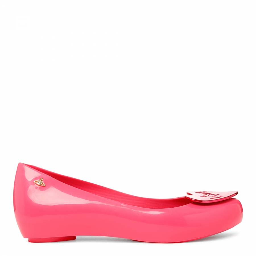 7ce1cc6815b9 Vivienne Westwood for Melissa Pink Love Ultragirl Peep Toe Flats