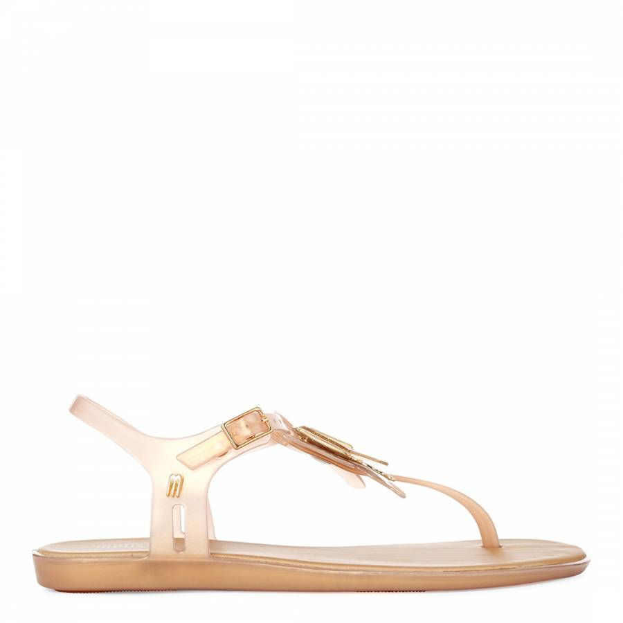 Melissa Papillon Solaire Sandale Plate - Or Doux 77RtRN