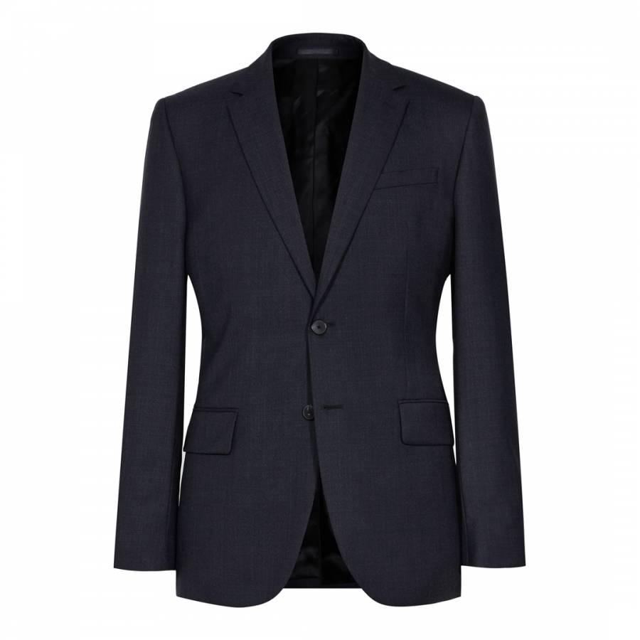 Brill W - Modern Wool Waistcoat in Navy, Mens, Size 34 Reiss