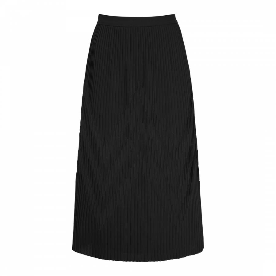 2a61c5faa Black Trudy Plisse Midi Skirt - BrandAlley