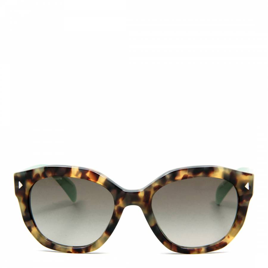 80d9030b42f ... spain prada womens spotted brown with light green arms green grey  shaded sunglasses 53mm cf1ae 15cb7 ...