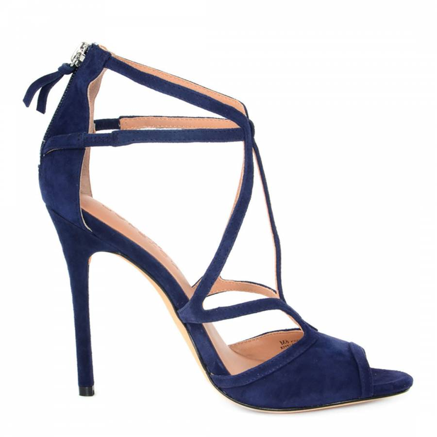 Halston Suede Caged Sandals choice sale online cheap new styles cheap sale lowest price OqDFx