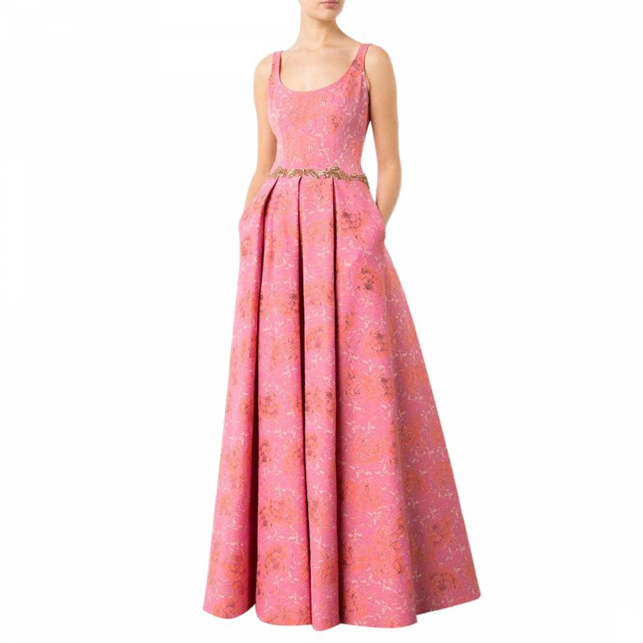 Pink Floral Jacquard Gown - BrandAlley c1e4f9207