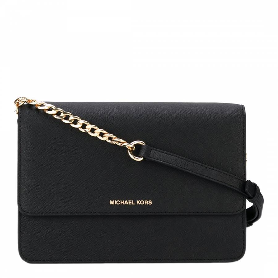 new style marketable big collection Black Large Leather Daniela Crossbody