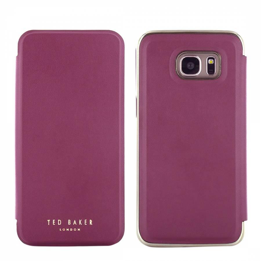 save off 1142e 87341 Oxblood/Gold Shannon Folio Samsung Galaxy S7 Edge Case - BrandAlley