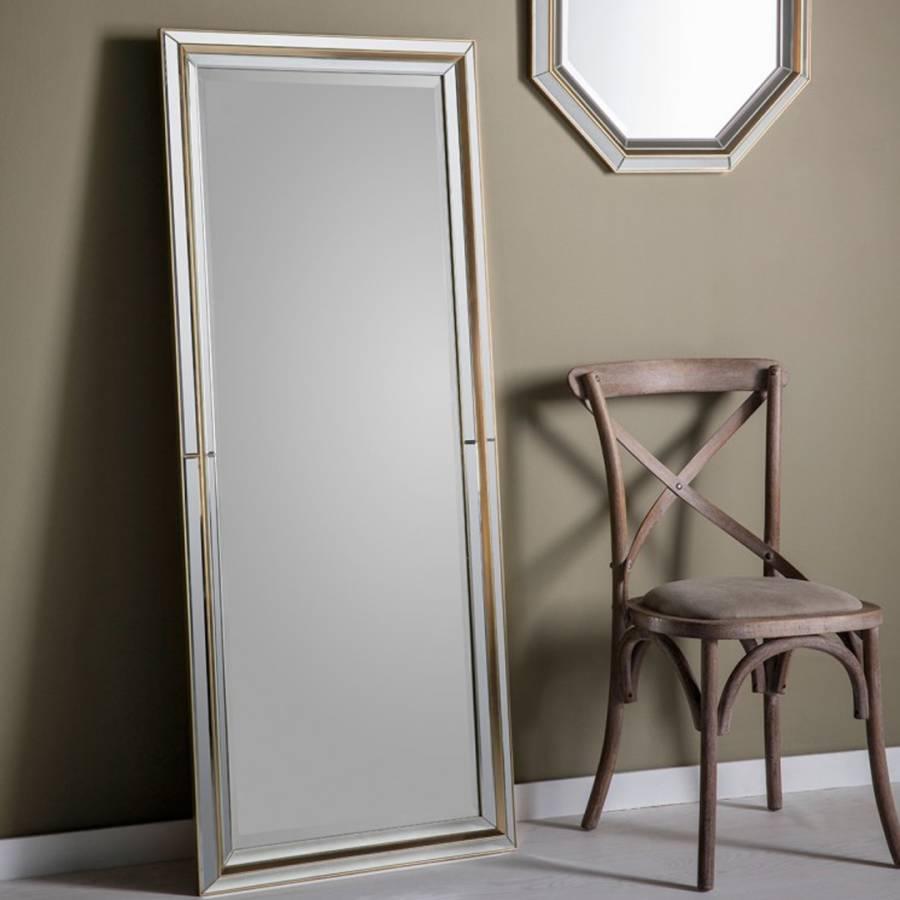 Gold Vogue Leaner Mirror 151x62cm - BrandAlley
