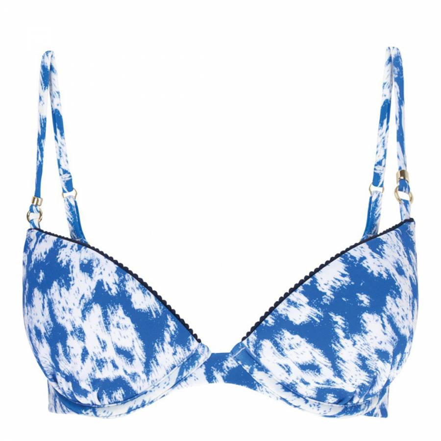 89a91a9c9e318 Heidi Klum Swim Blue White Catalina Kisses Classic DD Bikini Top. prev.  next. Zoom