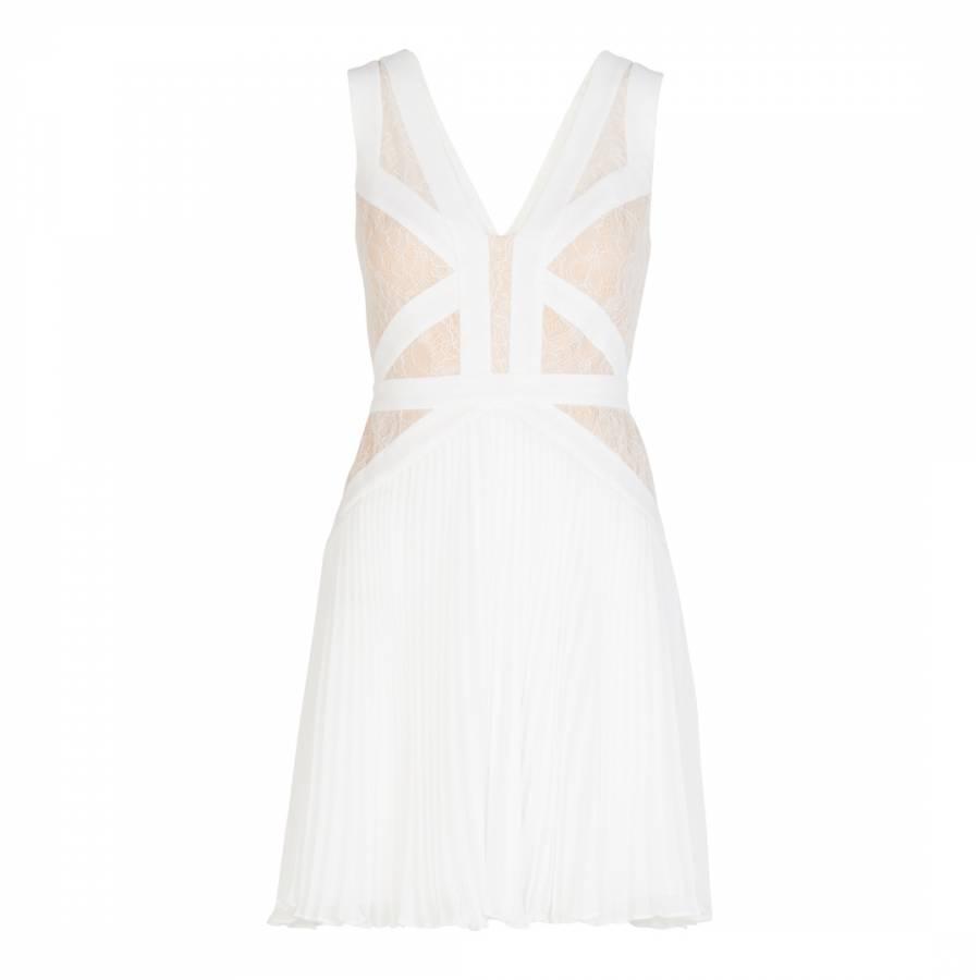 White Woven Evening Dress - BrandAlley