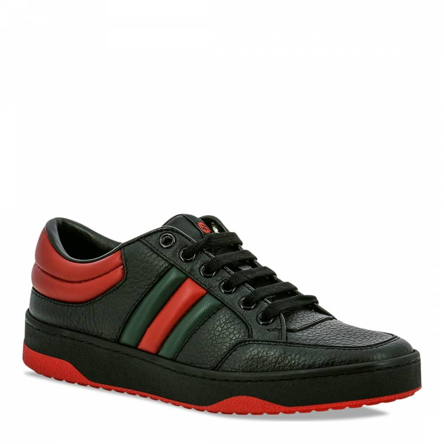 d88b382a1ec Gucci Black Leather Trainers - BrandAlley