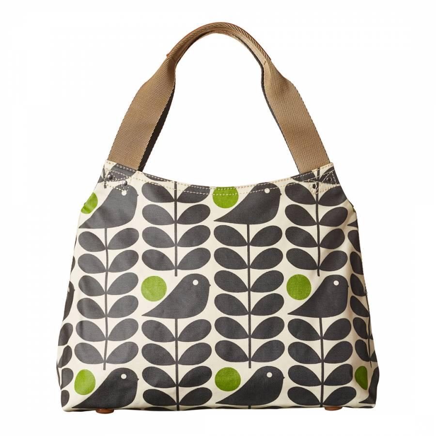 Granite Grey Early Bird Print Classic Zip Shoulder Bag - BrandAlley 62cd5bab2f7ae