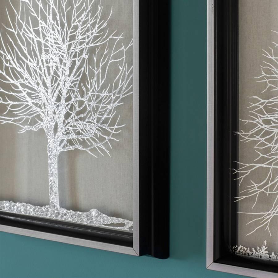 Autumn Tree Trio Framed Art 35x94cm Brandalley