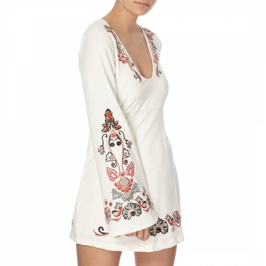 aeb87963a059 Ivory Combo Holiday Folk Mini Dress - BrandAlley