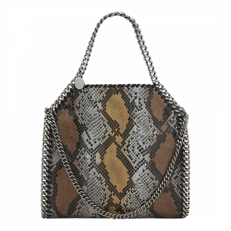 e92941b05c Stella McCartney Bronze Snake Effect Falabella Mini Tote Bag